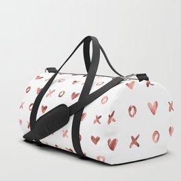 XOXO Love Me Rose Gold Pattern Duffle Bag
