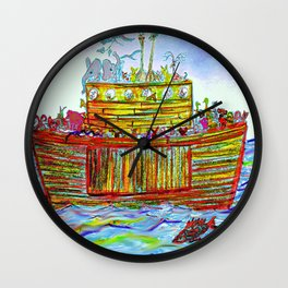 two by two - save the animals Wall Clock