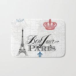 BonJour Paris Red White Blue Bath Mat