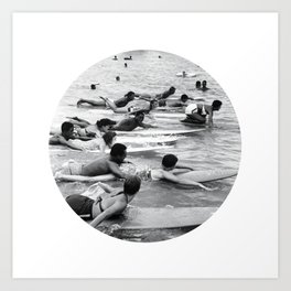 Group Surfers Art Print