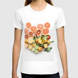 Lemon orange leaf T-shirt
