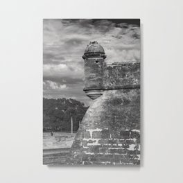 Castillo de San Marcos - black and white Metal Print