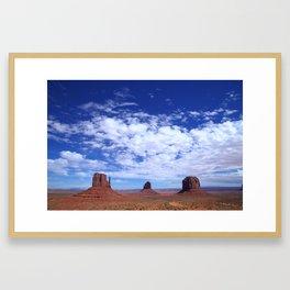 Sky above Monument Valley Framed Art Print