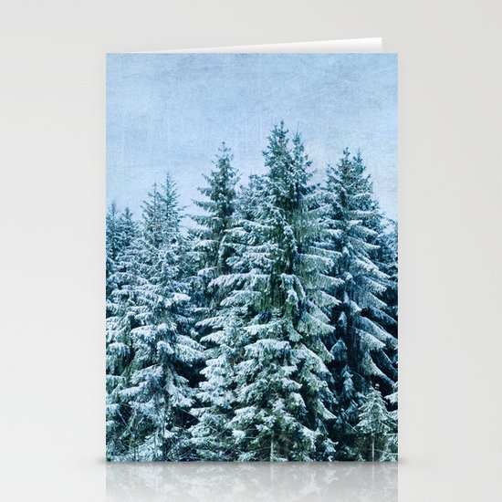 xmas trees Stationery Cards