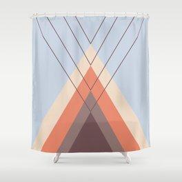 Iglu Blue Retro Shower Curtain