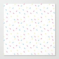 sprinkles Canvas Prints featuring sprinkles by a. nishimura