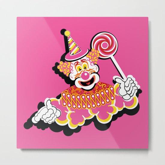 Retro Clown Metal Print