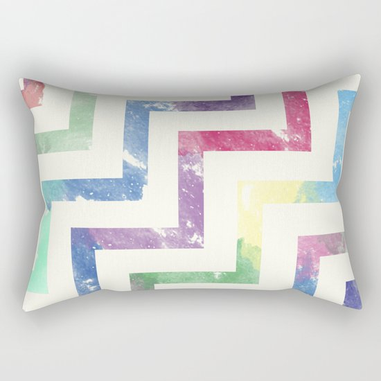 Colorful Geometric VI Rectangular Pillow