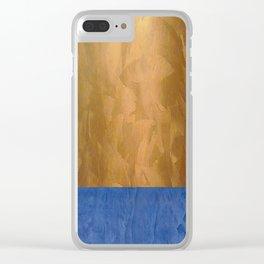 Copper Metallic With Tuscan Blue Stripe Trim Clear iPhone Case
