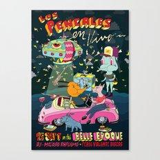 LOS PENCALES EN VIVO!!! Canvas Print