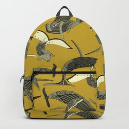 just whales yellow Backpack