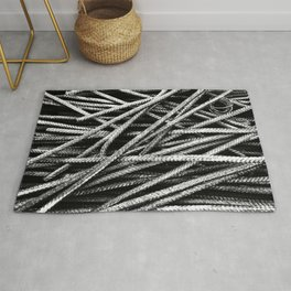 Rebar And Spring - Industrial Abstract Rug