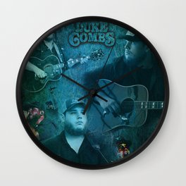 Luke Combs | Luke Combs Art Print Wall Clock