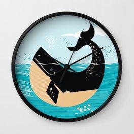 Baltic Sea travel poster Wall Clock