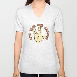 LIVE LONG AND PROSPER! - Star Trek Unisex V-Neck
