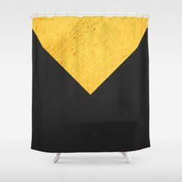 Gold Dark Grey Shower Curtain