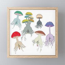 Magic Mushroom Roots Butts Framed Mini Art Print