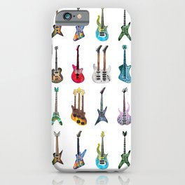 Electric Guitars Watercolor iPhone Case