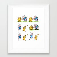 finn and jake Framed Art Prints featuring  Finn&Jake  by memo_alatouly