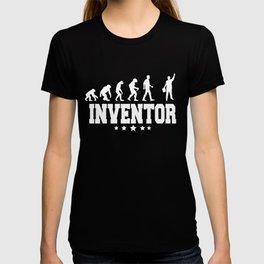 evolution of inventor T-shirt