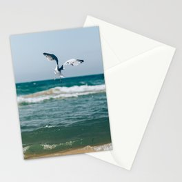 Gull Flight Over Lake Michigan Stationery Cards