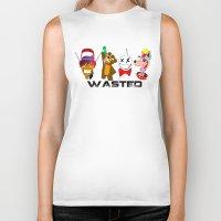 wasted rita Biker Tanks featuring WASTED by Indigo Blak