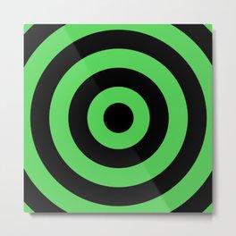 Target (Black & Green Pattern) Metal Print