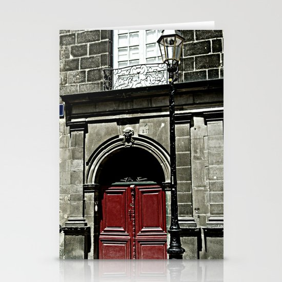 Paris 3 : The Red Door Stationery Cards