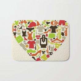 Heart clothes Bath Mat