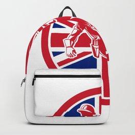 British Linesman Union Jack Flag Icon Backpack