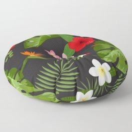Tropical Flower Background 6 Floor Pillow