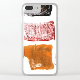 Licorice abstract watercolor Clear iPhone Case