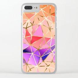Rainbow Geometric pattern #4 Clear iPhone Case