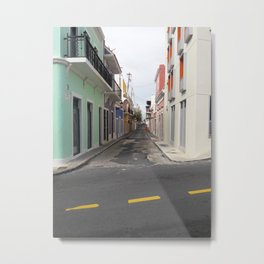Street View of Old San Juan Puerto Rico Metal Print