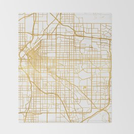 DENVER COLORADO CITY STREET MAP ART Throw Blanket