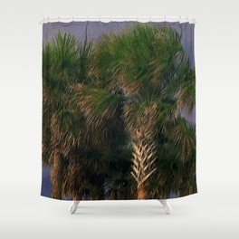 Palm Trees, Stormy Weather Shower Curtain