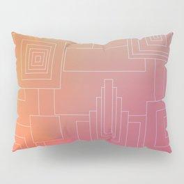 Art Deco sunset Pillow Sham