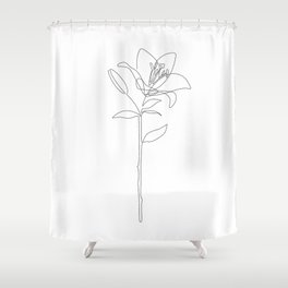 Fill Lily Shower Curtain