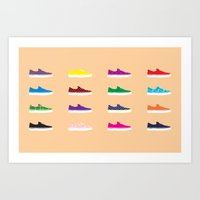 vans Art Prints featuring Vans by Kayla Ivey