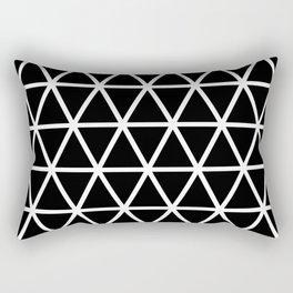 Black Triangle Pattern 3 Rectangular Pillow