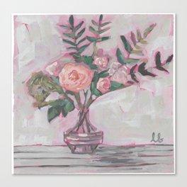 Pops of Hot Pink Florals Canvas Print
