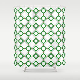 Geometric Pattern - Oriental Star Design  5 Shower Curtain
