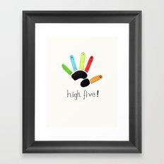 High Five! Framed Art Print