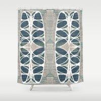 scandinavian Shower Curtains featuring Scandinavian retro by a.r.r.p.