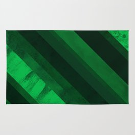 Mixed lines with green tones Rug