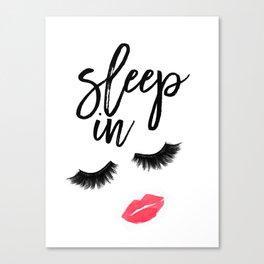 Fashion Quote Fashion Wall Art Typography Print Quote Wall Art Printable Sleep In Printable Wall Art Canvas Print