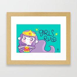 Girls Rule Framed Art Print