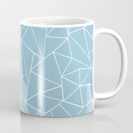 Abstraction Outline Sky Blue Coffee Mug