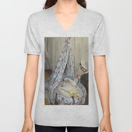 Claude Monet - The Cradle - Camille with the Artist's Son Jean.jpg Unisex V-Neck