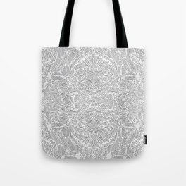 Frost & Ash - an Art Nouveau Inspired Pattern Tote Bag